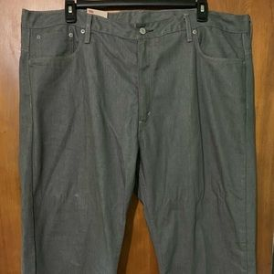 Levis Men's 569 Loose Straight Grey Jeans Sz 46x32
